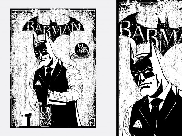 Barman Batman Tshirt Design prev 600x450 - Barman Batman Tshirt Design buy t shirt design