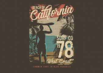Beach Of California buy t shirt design