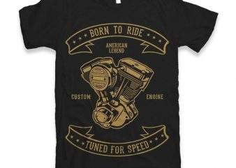 Born To Ride Vector t-shirt design buy t shirt design