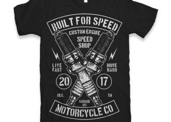 Built For Speed t-shirt design t shirt vector