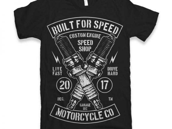 Built For Speed t-shirt design