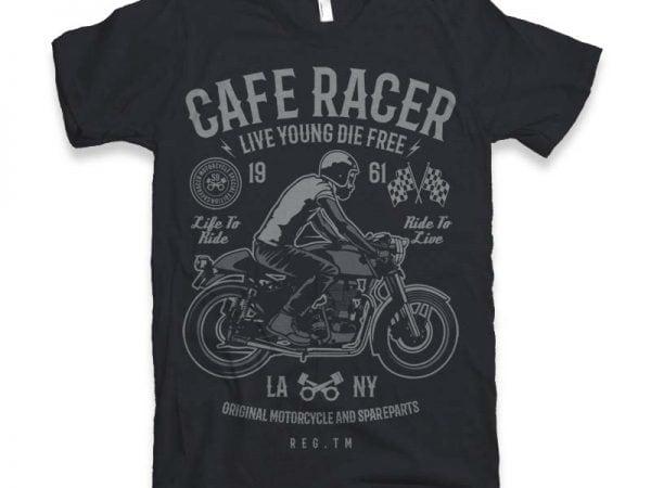 Cafe Racer t-shirt design buy t shirt design