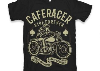 Caferacer Rider Forever t-shirt design buy t shirt design