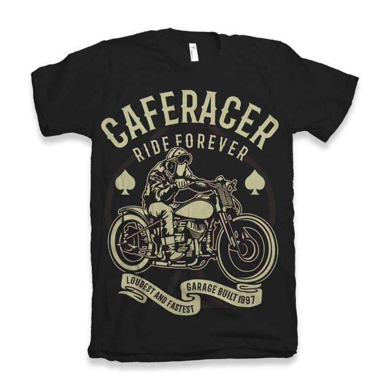 Caferacer Rider Forever t-shirt design buy t shirt design