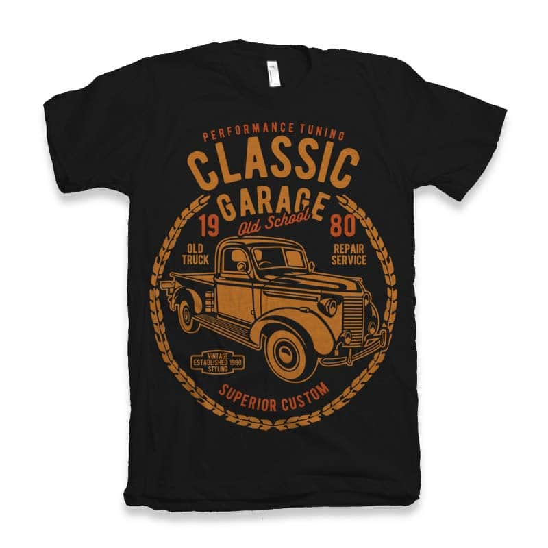 Classic Garage t-shirt design buy t shirt design
