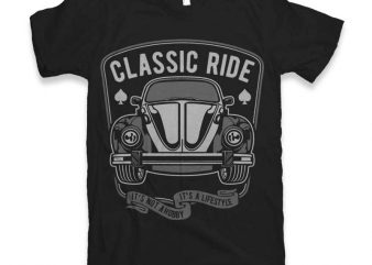 Classic Ride Graphic tee design