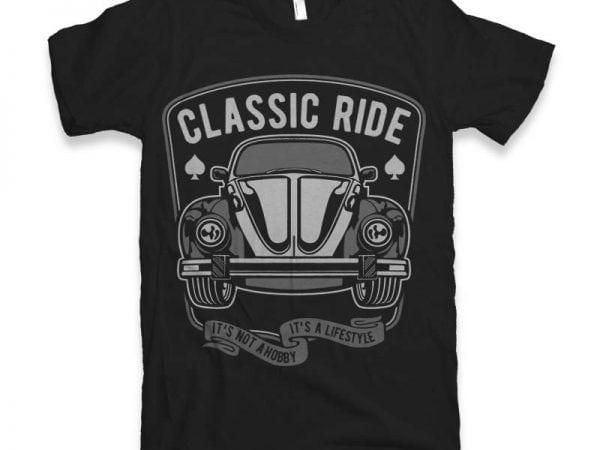 Classic Ride Graphic tee design buy t shirt design