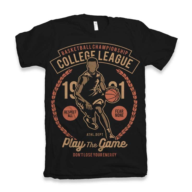College League Vector t-shirt design buy t shirt design