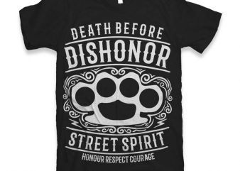Death Before Dishonor t-shirt design