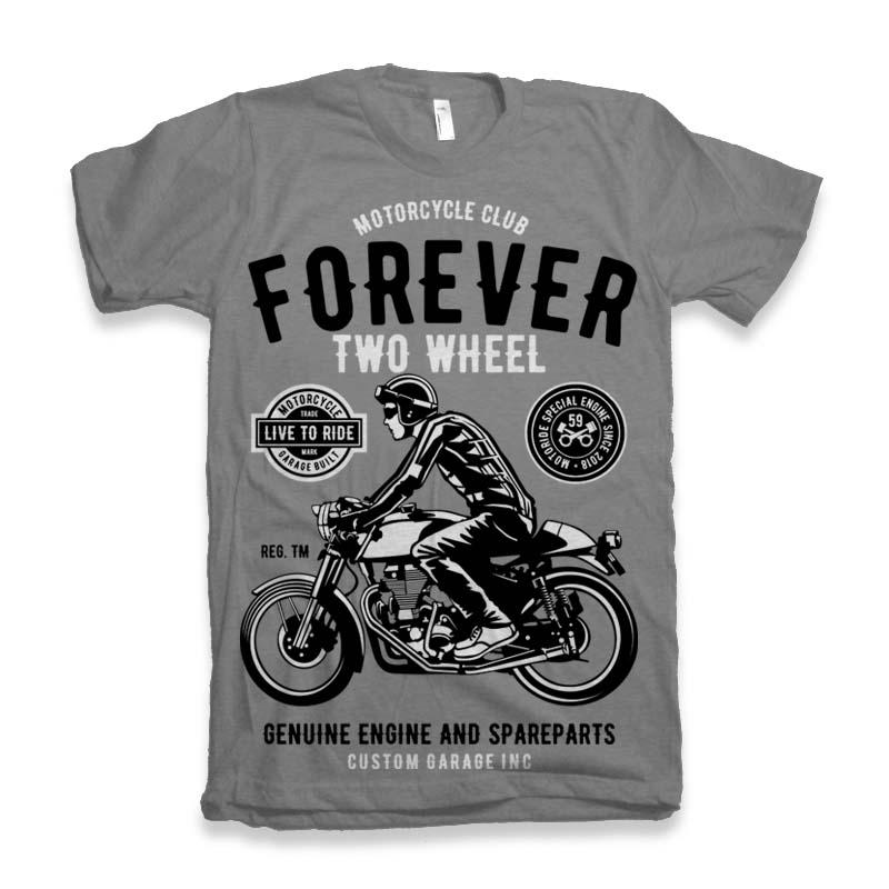 Forever Two Wheel t-shirt design buy t shirt design