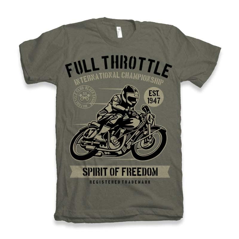 Full Throttle Vector t-shirt design buy t shirt design