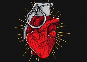 HeartGrenade graphic t shirt