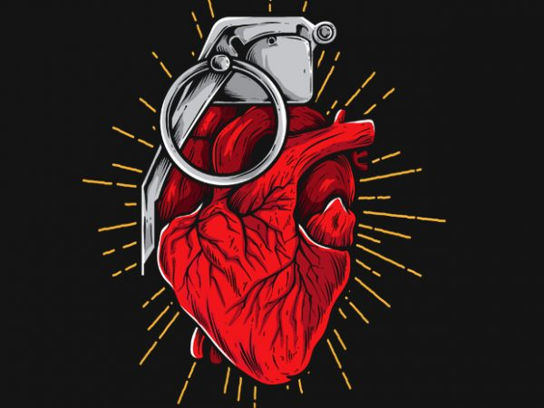 HeartGrenade 600x450 - HeartGrenade buy t shirt design