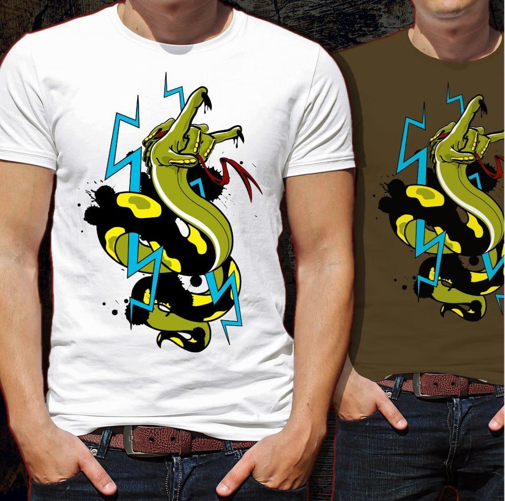 Hell Snake Tshirt Design buy t shirt design
