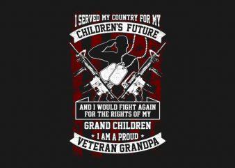 Veteran Grandpa t shirt vector art
