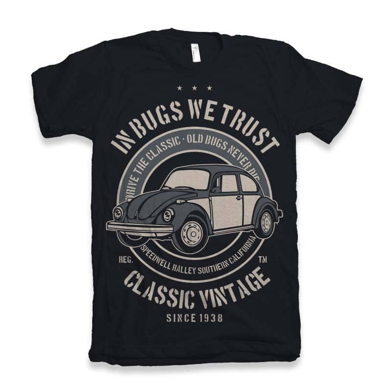 In Bugs We Trust t-shirt design buy t shirt design