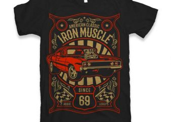 Iron Muscle Graphic tee design