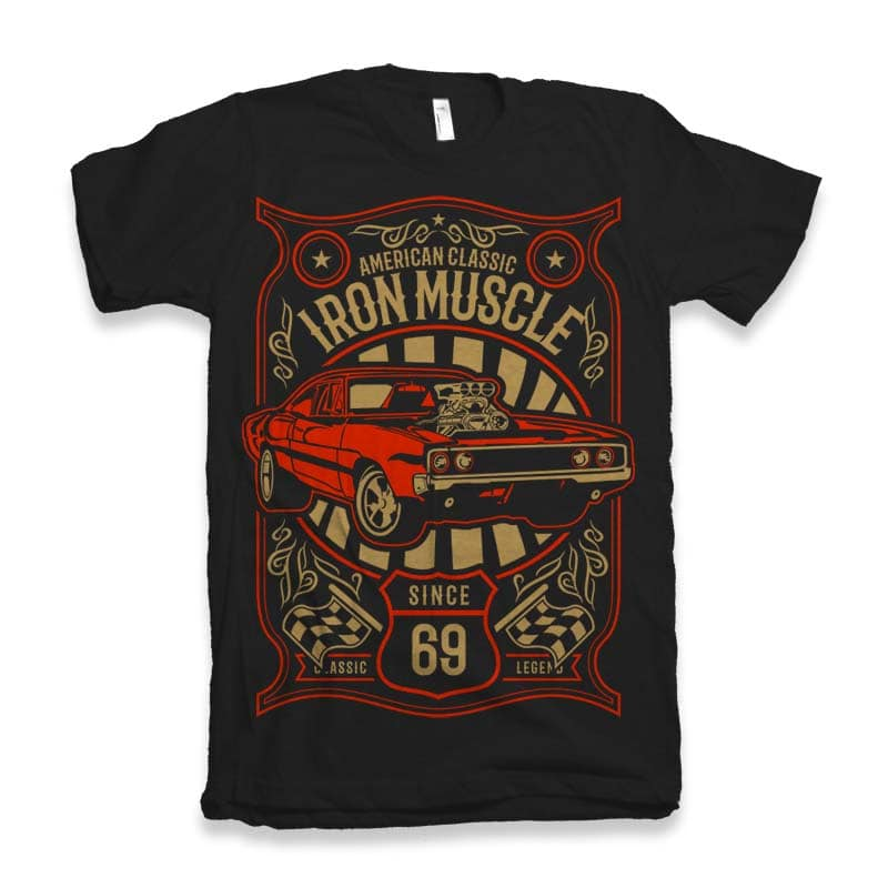 Iron Muscle Graphic tee design buy t shirt design
