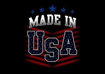 Made In USA t shirt designs for sale