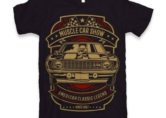 Muscle Car Show t-shirt design buy t shirt design