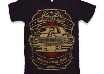 Muscle Car Show t-shirt design t shirt vector