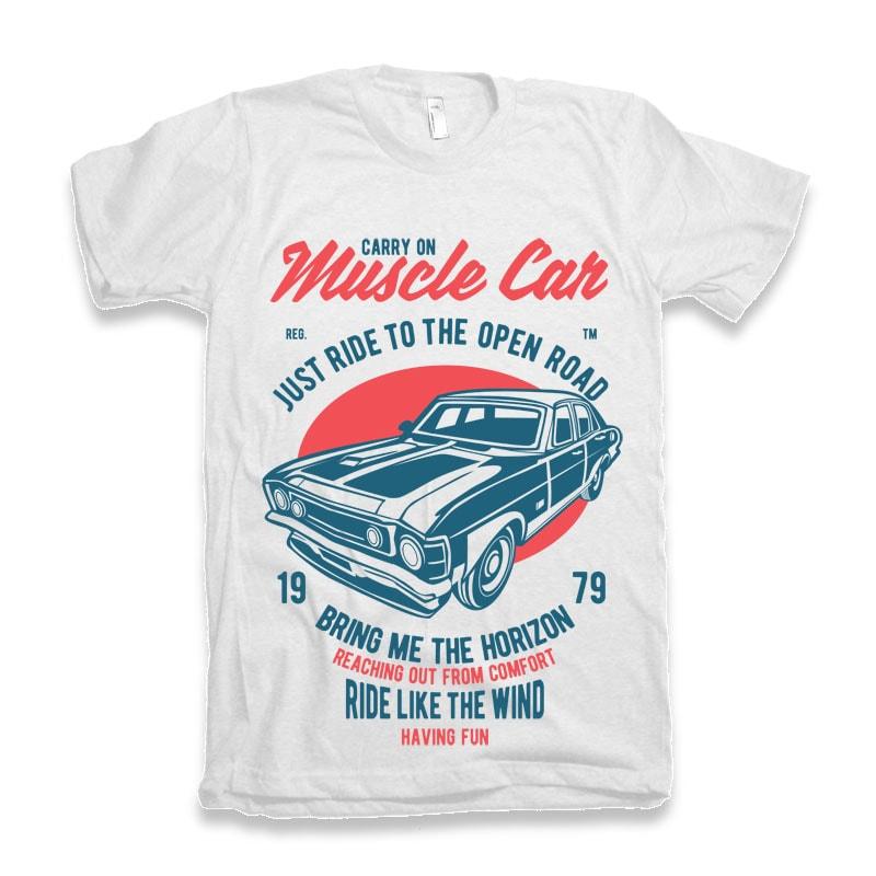 Muscle Car T-shirt Design buy t shirt design
