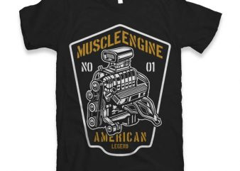 Muscle Engine Graphic tee design buy t shirt design
