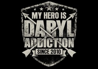 My Hero Is Daryl t shirt designs for sale