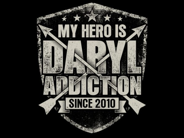 My Hero Is Daryl BTD 600x450 - My Hero Is Daryl buy t shirt design