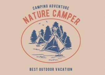 Nature Camper Tshirt design
