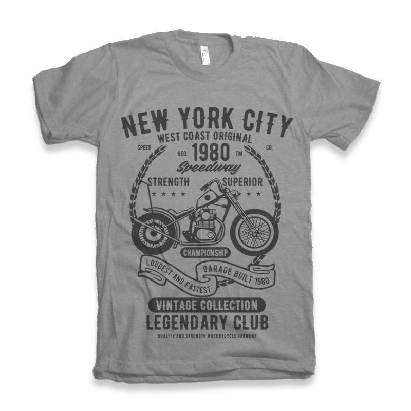 New York City Speedway T-shirt design buy t shirt design