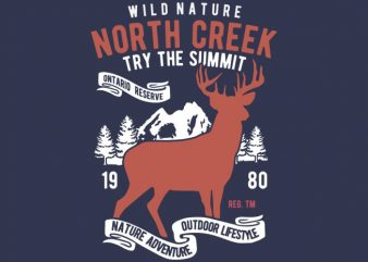 North Creek Deer Nature buy t shirt design