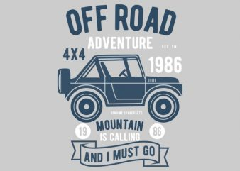 Off Road Adventure Tshirt Design t shirt template