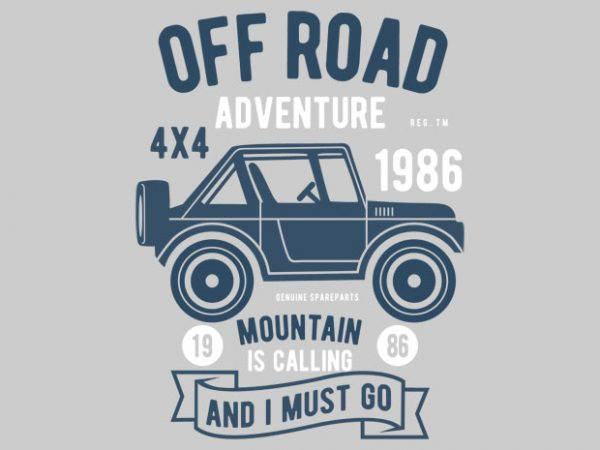 Off Road Adventure Tshirt Design buy t shirt design