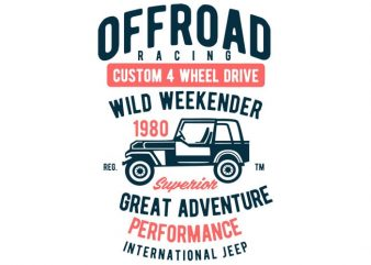 Off Road Racing T-shirt design t shirt template