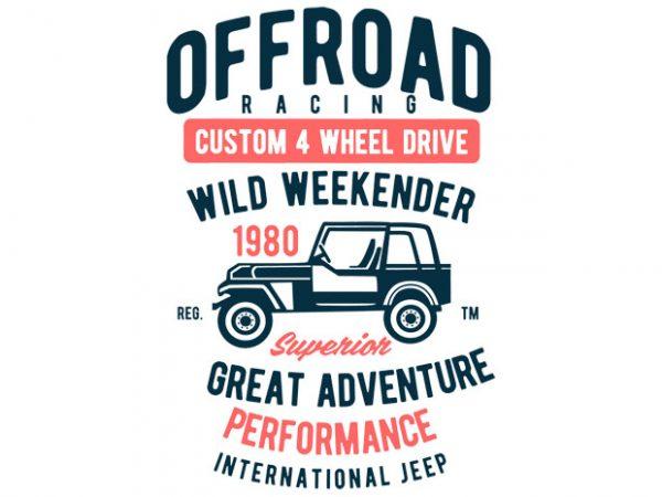 Off Road Racing T-shirt design