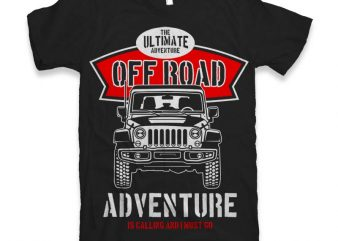 Off Road T-shirt design t shirt template
