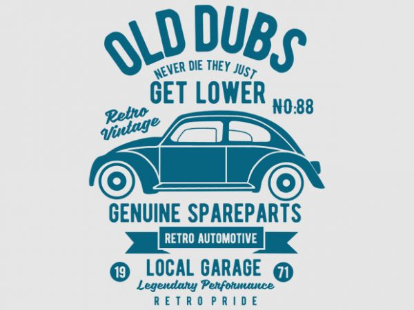 Old Dubs Vector T-shirt Design buy t shirt design