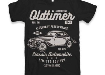 Oldtimer t-shirt design