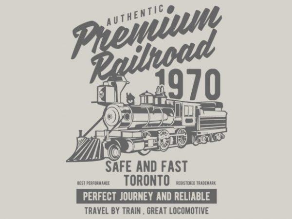 Premium Railroad t-shirt design buy t shirt design
