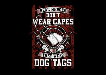 Real Heroes t shirt design online