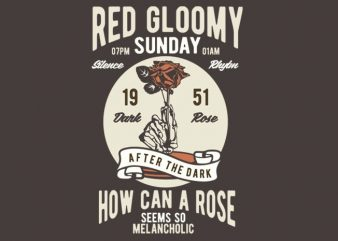 Red Gloomy Sunday t-shirt design buy t shirt design