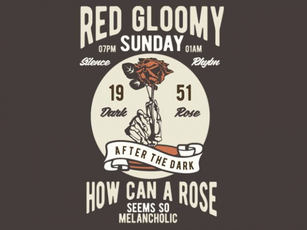 Red Gloomy Sunday t-shirt design