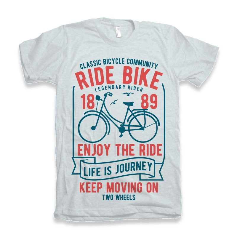 Ride Bike Vector T-shirt Design buy t shirt design