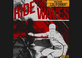 Ride The Waves 87 t shirt design online