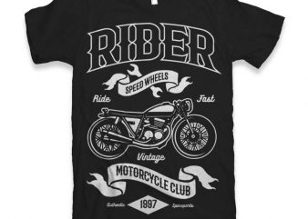 Rider Vector t-shirt design buy t shirt design