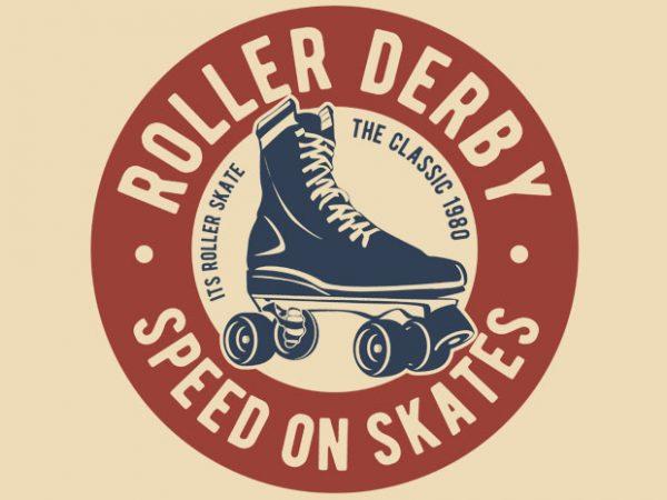 Roller Derby BTD 600x450 - Roller Derby vector t-shirt design buy t shirt design