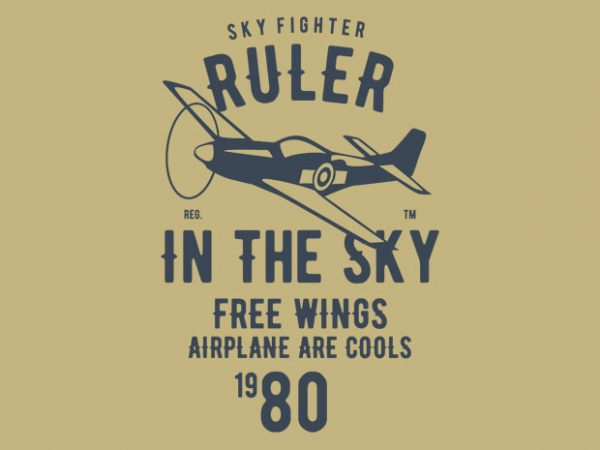 Ruler In The Sky t-shirt design buy t shirt design