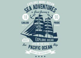 Sea Adventures t-shirt design buy t shirt design