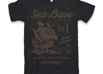 Sea Base Graphic tee design
